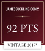 james suckling .com 92 points vintage 2017*