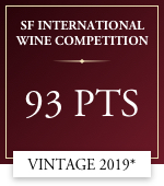 sf international wine competition 93 points vintage 2019 *