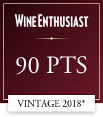 wine enthusiast 90 points vintage 2018*